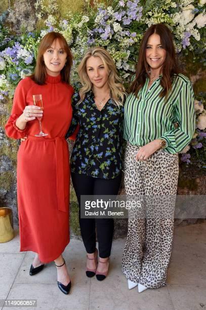 Teresa Tarmey, Amanda Harrington and Lisa Snowdon attend the launch luncheon of Amanda Harrington London's sunless tanning brand with Perrier - Jouet...
