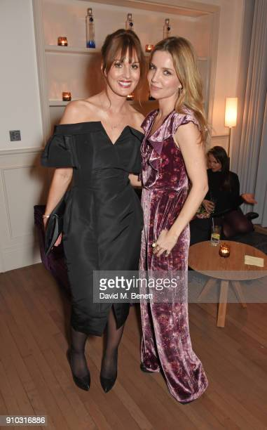 Teresa Tarmey and Annabelle Wallis attend the launch of Teresa Tarmey's new 'at home facial system' at Mortimer House, sponsored by CIROC, on January...