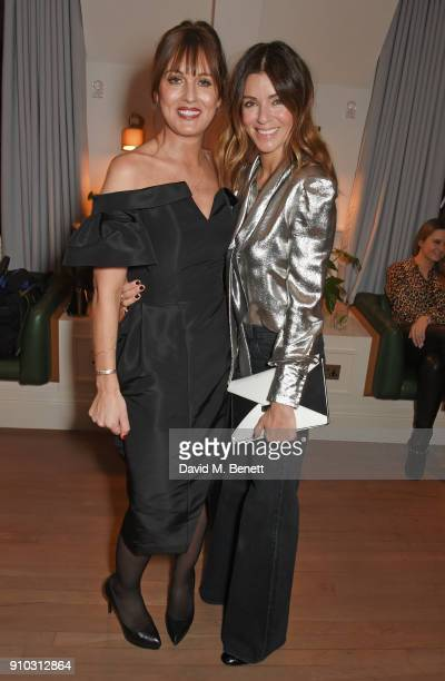 Teresa Tarmey and Sara Macdonald attend the launch of Teresa Tarmey's new 'at home facial system' at Mortimer House, sponsored by CIROC, on January...