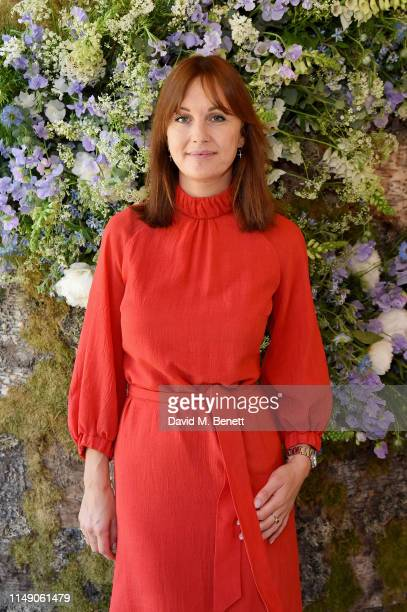 Teresa Tarmey attends the launch luncheon of Amanda Harrington London's sunless tanning brand with Perrier - Jouet Blason Rose, on May 14, 2019 in...