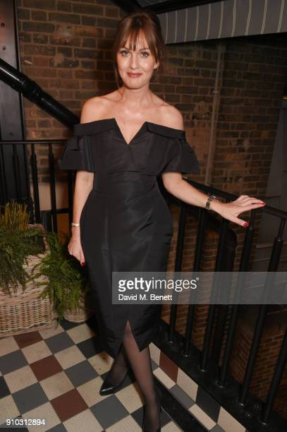 Teresa Tarmey attends the launch of her new 'at home facial system' at Mortimer House, sponsored by CIROC, on January 25, 2018 in London, England.