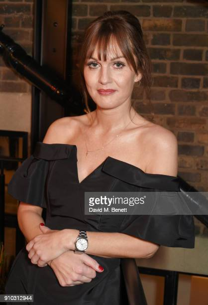 Teresa Tarmey attends the launch of her new 'at home facial system' at Mortimer House sponsored by CIROC on January 25 2018 in London England