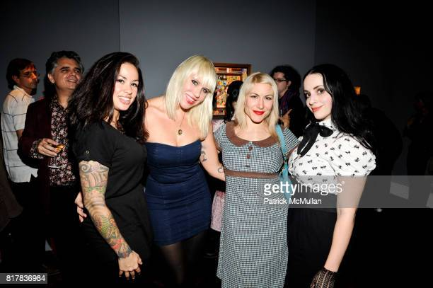 Teresa Trujillo Dr Lila Wolfe Tara McPherson and Molly Crabapple attend JOE COLEMAN AUTOPORTRAIT at Dickinson New York on October 28 2010 in New York...