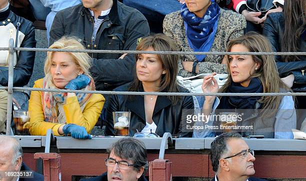 Teresa Viejo Nuria Gonzalez and Yolanda Gonzalez attend San Isidro Bullfight 2013 at Las Ventas Bullring on May 21 2013 in Madrid Spain