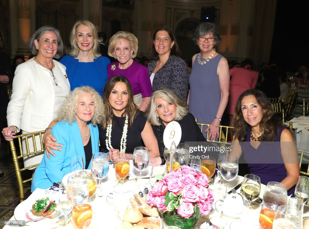 Teresa Weintraub, Carolyn Carter, Fredricka Freidman, Stephanie O'Keefe, Jane Chesnutt, Carole King, Mariska Hargitay, Sheila Nevins, and Lana Iny attend attend The 7th Annual Elly Awards at The Plaza Hotel on June 19, 2017 in New York City.