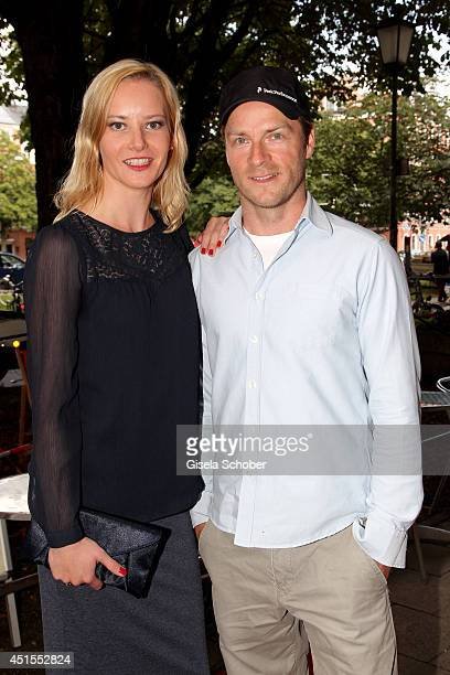 Teresa Weissbach and Hinnerk Schoenemann attend the 'Fuer immer ein Moerder Der Fall Ritter' Premiere as part of Filmfest Muenchen at Rio Filmpalast...