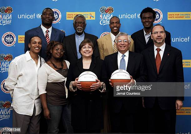 Teresa Witherspoon Dikembe Mutombo Kimberly Canaday Bill Russell Ann M Veneman Executive Director of UNICEF Jerome Williams David J Stern...