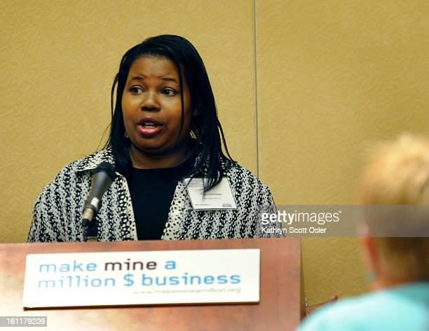 Teresia Matthew owner of RhoZee Kefiran gives her twominute pitch for her business Make Mine a Million $ Business a national initiative to help small...