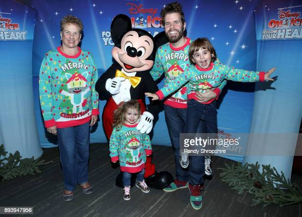 Teresita Lavandeira Mickey Mouse Mia Alma Lavandeira Perez Hilton and Mario Armando Lavandeira III attend Disney On Ice Follow Your Heart at Staples...