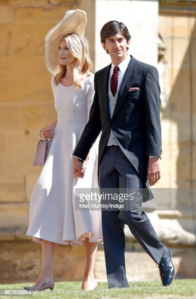 Tereza Maxova and Burak Oymen attend the wedding of Prince Harry to Ms Meghan Markle at St George's Chapel Windsor Castle on May 19 2018 in Windsor...