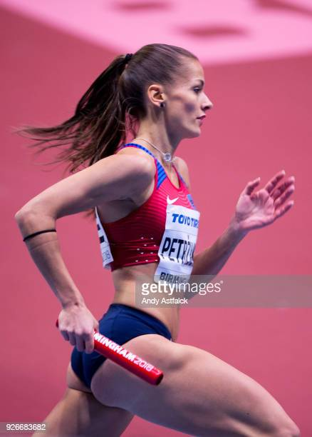 Tereza Petrzilkova from the Czech Republic during Round 1 of the Women's 4x400m Relay on Day 3 of the IAAF World Indoor Championships at Arena...