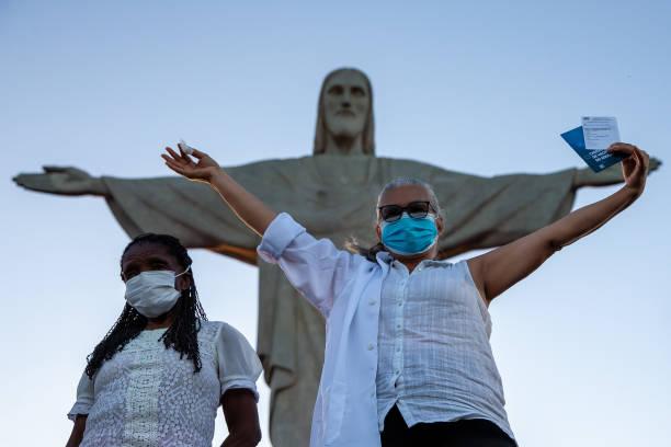 BRA: The City of Rio de Janeiro Begins the Immunization Against the  Coronavirus (COVID-19) at the Christ the Redeemer