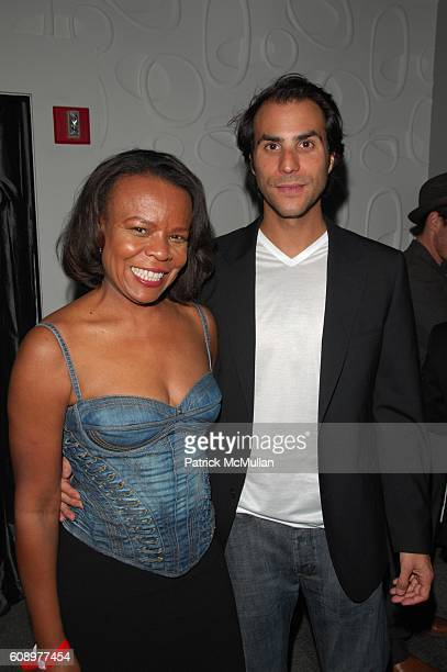 Teri Agins and Ben Silverman attend BEN SILVERMAN ERIC HADLEY and CHARLIE WALK host THE NETWORK UPFRONTS dinner at Spotlight Live NYC on May 17 2007