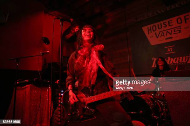 Teri Gender Bender and Alejandra Robles Luna of Le Butcherettes perform onstage at House of Vans during 2017 SXSW Conference and Festivals at Mohawk...