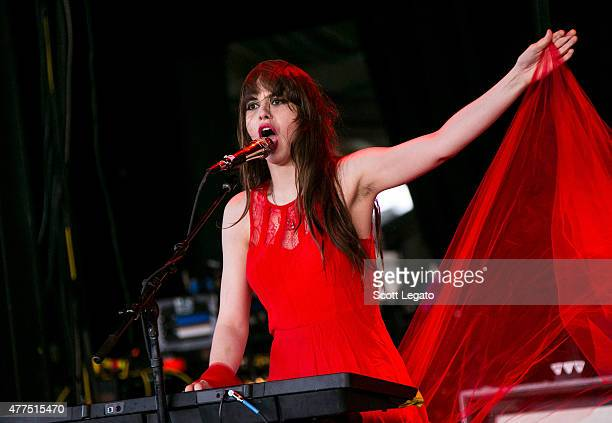Teri Gender Bender of Le Butcherettes performs at DTE Energy Music Theater on June 17 2015 in Clarkston Michigan