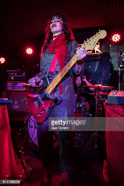 Teri Gender Bender of Le Butcherettes performs in concert at sala Sidecar on October 12 2016 in Barcelona Spain