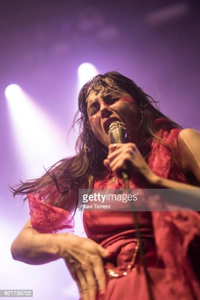 Teri Gender Bender of Le Butcherettes performs in concert at sala Apolo on February 20 2018 in Barcelona Spain