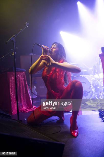 Teri GenderBender of Le Butcherettes performs on stage at Sala Apolo on February 20 2018 in Barcelona Spain