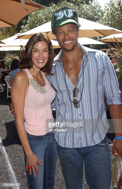 Teri Hatcher and Gary Dourdan during Style Lounge Honoring Heal the Bay Presented by Kari Feinstein PR Day 1 at Chaz Dean Studio in Hollywood...