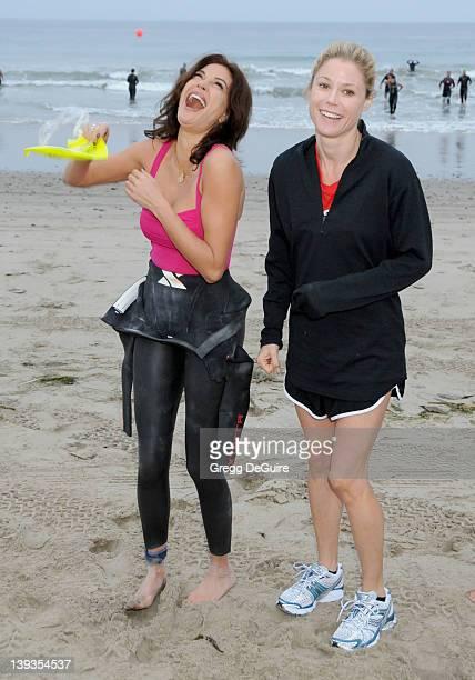 Teri Hatcher and Julie Bowen participate at the 24th Annual Nautica Malibu Triathlon held at Zuma Beach on September 12 2010 in Malibu CA