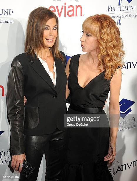 Teri Hatcher and Kathy Griffin arrive at the 20th Annual Fulfillment Fund Stars Benefit Gala at The Beverly Hilton Hotel on October 14 2014 in...