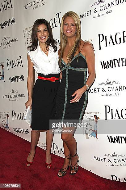 Teri Hatcher and Nancy O'Dell during Launch Party for Teri Hatcher's Book Burnt Toast and Other Philosophies of Life Arrivals at Book Soup/Aqua...
