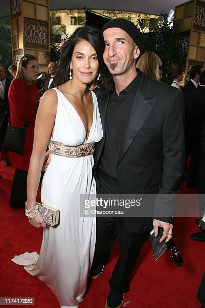 Teri Hatcher and Stephen Kay during Moet Chandon Arrivals at the 64th Annual Golden Globe Awards at Beverly Hilton Hotel in Beverly Hills California...