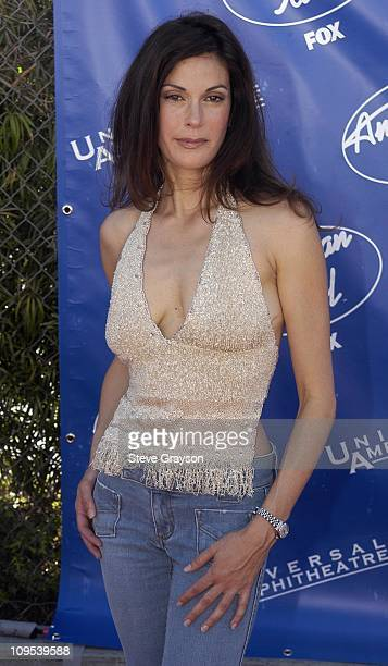 Teri Hatcher during American Idol Season 2 Finale Arrivals at Universal Amphitheater in Universal City California United States
