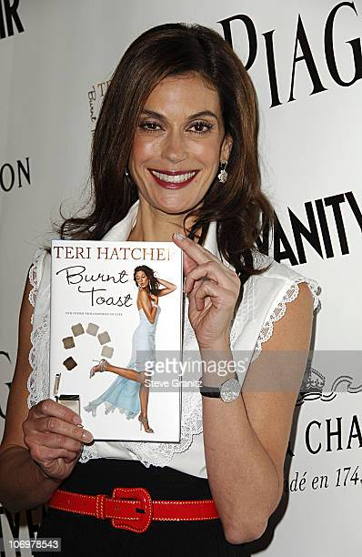 Teri Hatcher during Launch Party for Teri Hatcher's Book Burnt Toast and Other Philosophies of Life Arrivals at Book Soup/Aqua Restaurant Lounge in...