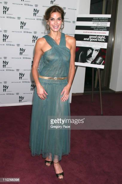 Teri Hatcher during Opening Night of the 43rd Annual New York Film Festival Good Night and Good Luck Premiere Green Room at Avery Fisher Hall Lincoln...