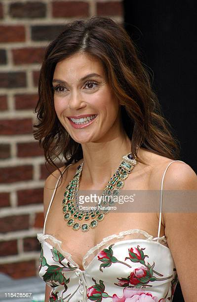 Teri Hatcher during Teri Hatcher Visits 'The Late Show With David Letterman' May 11 2006 at The Ed Sullivan Theater in New York City New York United...