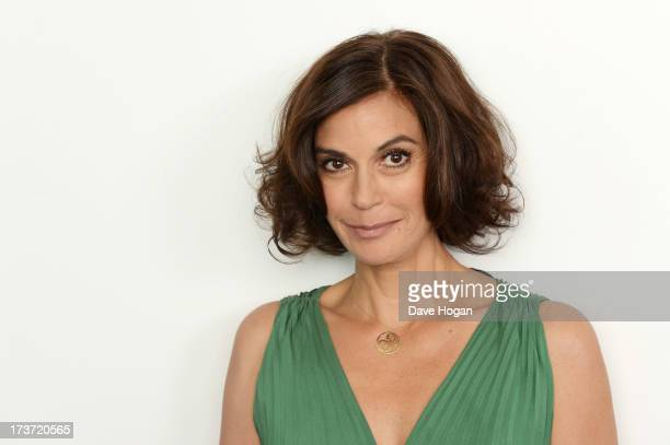 Teri Hatcher takes part in a webchat to promote her new film 'Planes' on July 17 2013 in London England
