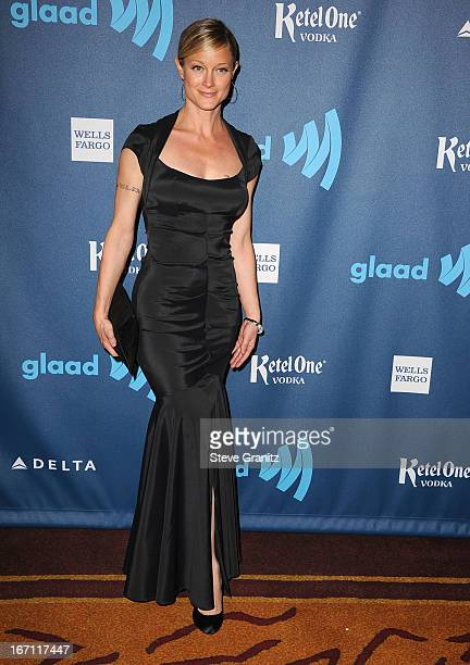 Teri Polo arrives at the 24th Annual GLAAD Media Awards at JW Marriott Los Angeles at LA LIVE on April 20 2013 in Los Angeles California