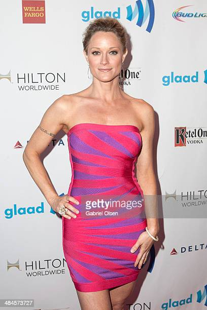Teri Polo arrives to the 25th Annual GLAAD Media Awards Dinner and Show on April 12 2014 in Los Angeles California