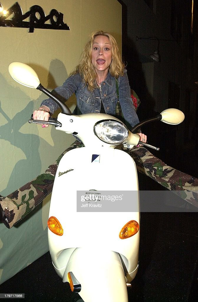 Teri Polo during Vespa Scooter Party in Hollywood, California.