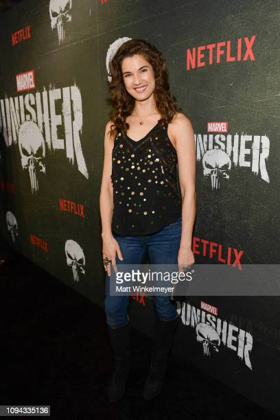 Teri Reeves attends Marvel's The Punisher Los Angeles Premiere at ArcLight Hollywood on January 14 2019 in Hollywood California