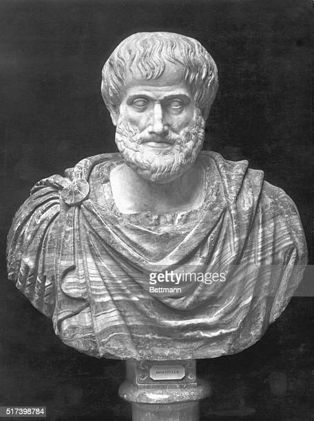 Picture shows a Bust of the Greek Philosopher Aristotele at the Museo Nazionale delle Terme Undated photo