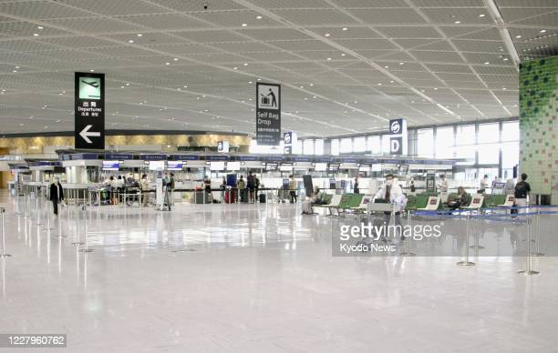 Terminal 1 is deserted at Narita airport near Tokyo on Aug. 8 amid the continued spread of the novel coronavirus.