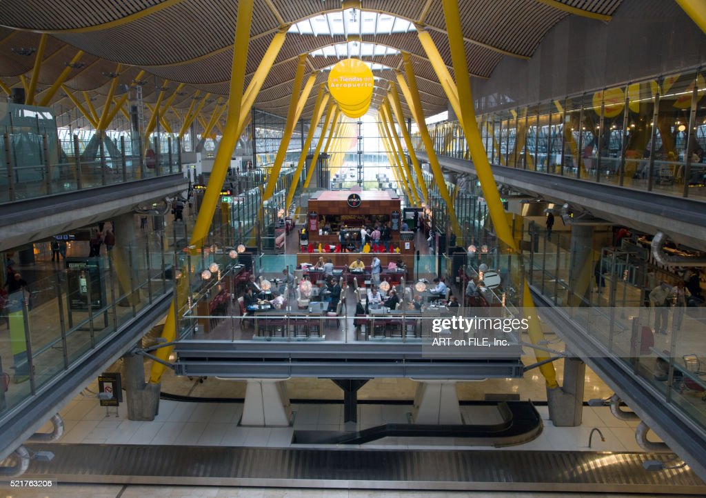 Terminal 4 At Madrid Barajas International Airport Stock ...