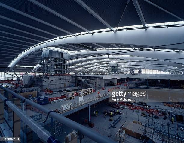 Terminal 5 Heathrow Airport Hayes United Kingdom Architect Rogers Stirk Harbour Partners Terminal 5 Heathrow Construction Departure Hall