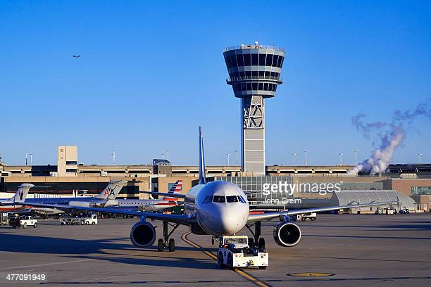 Terminal and control tower at Philadelphia airport