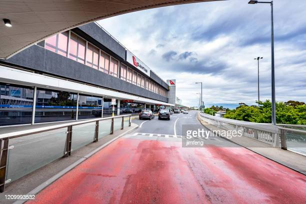 terminal building entrance in melbourne airport, australia. - dallas fort worth airport stock pictures, royalty-free photos & images
