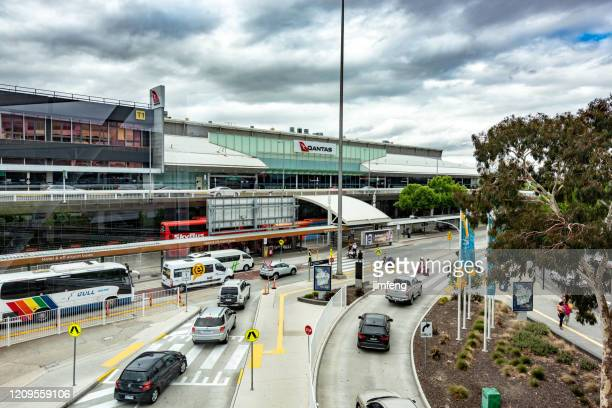 terminal building in melbourne airport, australia. - dallas fort worth airport stock pictures, royalty-free photos & images