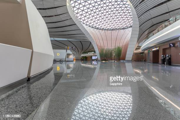 terminal hall,china beijing international airport - global entry stock pictures, royalty-free photos & images