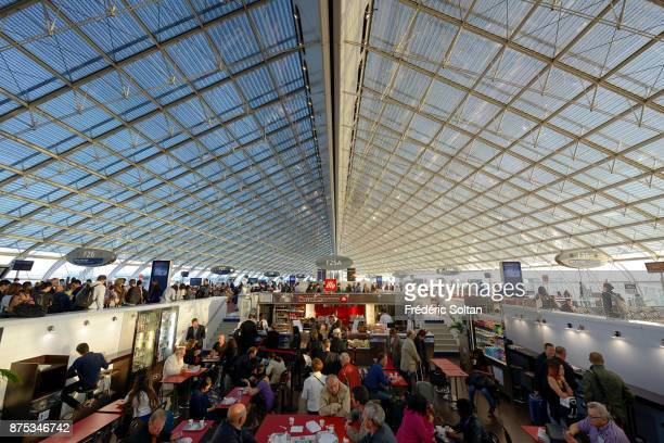 Terminal of the Roissy airport in Paris on September 20 2015 in Paris France