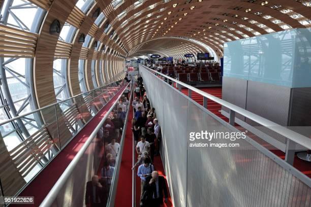 Terminal2E at Paris Charles de Gaulle airport.