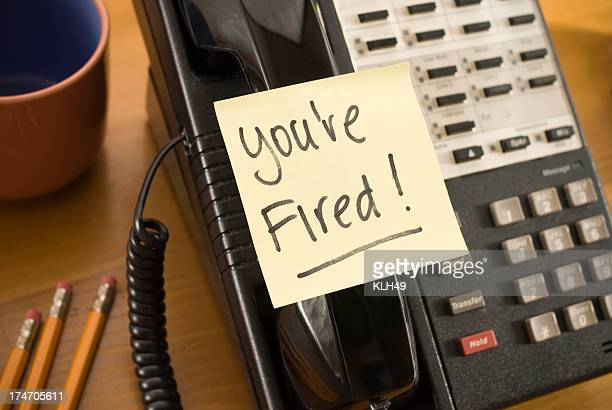 Termination note on Phone Handset