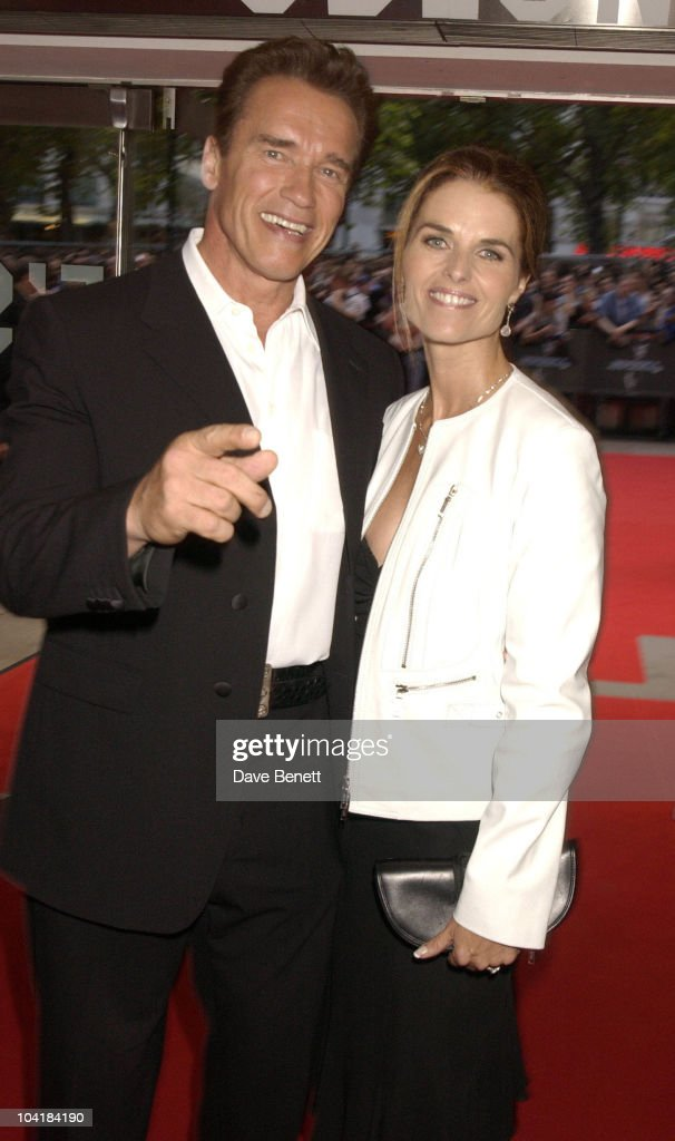 Terminator 3 Rise Of The Machine Premiere At The Odeon Leicester Square London, Arnold Schwarzenegger And Maria Shriver
