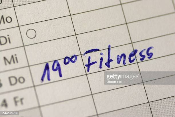 Terminkalender Termin Notiz Eintrag 1900 Uhr Fitness