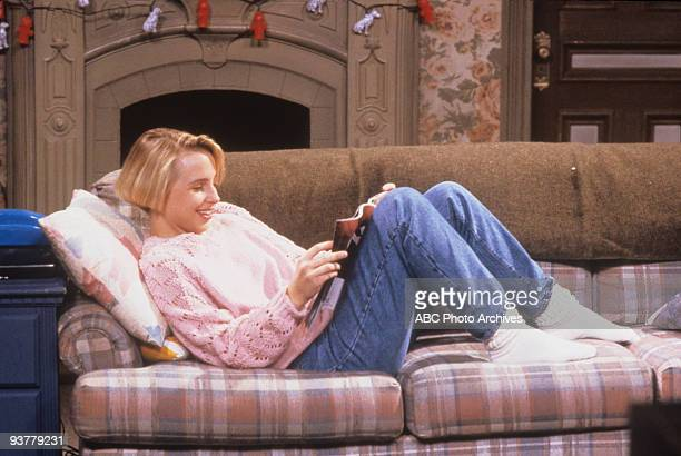 ROSEANNE 'Terms of Estrangement Part 1' Season Five 9/15/92 Lecy Goranson on the ABC Television Network comedy 'Roseanne' Becky is upset after Mark...